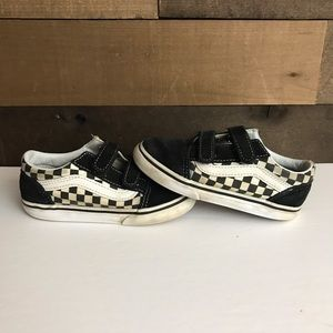 Vans checkerboard toddler shoes size 9